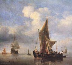* Willem van de Velde (de Jonge) - - - Kalme zee