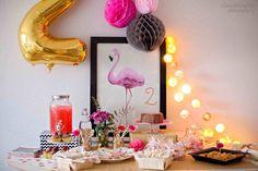 Fiesta de cumpleaños de flamencos - claraBmartin