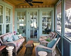 A Screened Porch Off Of The Dining Room Is No Brainer But Colors For This Are Perfect Movement From Indoors To Out Flawless