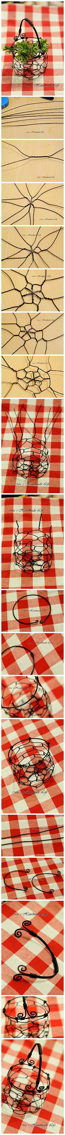 Craft your own wire basket