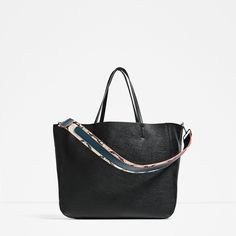 ZARA - COLLECTION SS/17 - TOTE WITH PRINTED STRAP