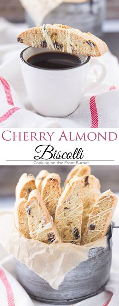 Take a break and enjoy this White Chocolate Cherry Almond Biscotti with your morning coffee! Chocolate Cherry, Chocolate Flavors, White Chocolate, Chocolate Cookies, Chocolate Torte, Chocolate Brownies, Cookie Desserts, Cookie Recipes, Dessert Recipes