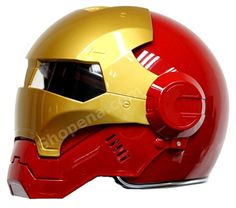 This Iron Man Open Face Motorcycle Helmet is hands down the sweetest looking helmet you'll ever lay your eyes on! This helmet looks great, feels awesome, will fit like a glove, & is #DOT approved so you won't be sacrificing safety at all.