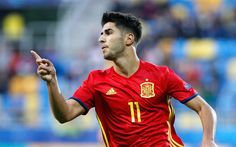 Download wallpapers Marco Asensio, footballers, Spanish National Team, match, soccer, football