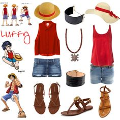 """Casual Cosplay - Luffy - One Piece"" by casual-cosplay on Polyvore"