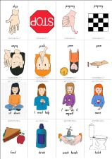 Click here to download many social behavior visuals and icons for choice boards and picture schedules (Girls).