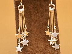 STERNTALER - zarte Stern Ohrringe versilbert von Kleines Karma - Natur & Trend Schmuck, Ketten & Colliers, Uhren, Accessoires und Geschenke aus Berlin auf DaWanda.com