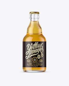 330ml Clear Glass Beer Bottle Mockup (Preview)