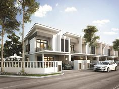 New Terrace/Link House for sale at Garden Heights, Phase Rawang by Indah Jaya Development Sdn Bhd. View the project information and facilities, points of interest, floor plan & Row House Design, Bungalow House Design, Villa Design, Modern House Design, Modern Houses, Flat Design, Property Design, New Property, Modern Townhouse