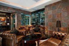 Great cigar lounge - I like the slate on the walls