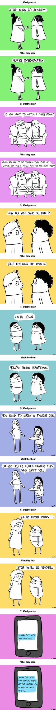 What You Say To A Highly Sensitive Person And What They Hear (By Loryn Brantz)