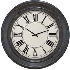 "Bayden Hill Wood Wall Clock 32""D"