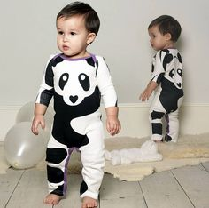 Big Panda Sleepsuit. @Danielle Lee i'm gonna make Dex wear this til he's old enough to yell NOOOO!