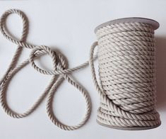 Beautiful raw silver jute and cotton mix rope. Great for coiling into coasters, or making a coil basket. Or decor for a beach / nautical theme wedding. LostPropertyHongKong
