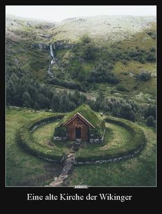 Stay in this Turf house in Iceland Credit: Beautiful World, Beautiful Places, Trees Beautiful, Nature Aesthetic, Viking Aesthetic, Garden Cottage, Cabins In The Woods, Kirchen, Abandoned Places