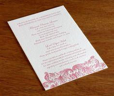 classic letterpress wedding invitation by invitations by ajalon