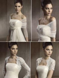 2012 wedding accessories wedding dress shawls caplets lace sheer. Top right I love!