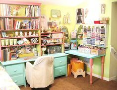 amazing sewing and craft room