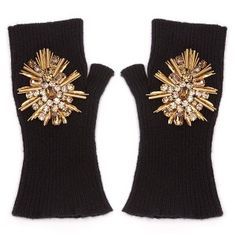 Alexander McQueen fingerless gloves from today's Friday Beautiful Things on www.camillemaurice.com