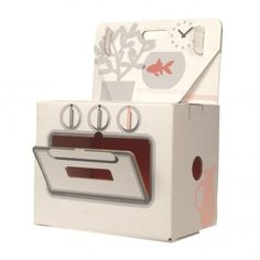 Kidsonroof Cooker 18,00 €    22 * 34 * 45 cm    Also for my nephew and niece.  They can make paper desserts.