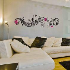 Musical Flowers Wall Sticker from notonthehighstreet.com