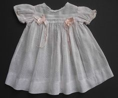 Vintage Pale Pink Swiss Dot Organdy Doll Dress Shirley Temple & Others  #Unbranded