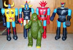 Shogun Warriors lot of 5 for parts Godzilla Popy Japan 1970's