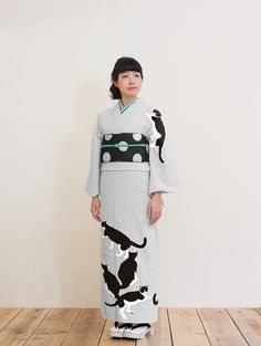amanatsumikan: (さく研究所 オリジナルプリント 着物 セオα 猫浴衣と夏きもの さく研究所から)…