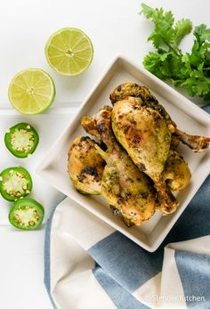 Cilantro Jalapeno Chicken Drumsticks - Slender Kitchen. Works for Clean Eating, Gluten Free, Low Carb, Weight Watchers® and Whole30® diets. 229 Calories.