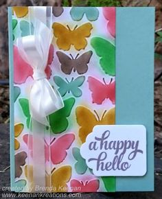 Stampin' Up! Fluttering Embossing Folder with the new 2015-2017 In Colors :-D
