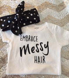 Baby Girl Onesie-Embrace Messy Hair by KailisGlitzyBowtique