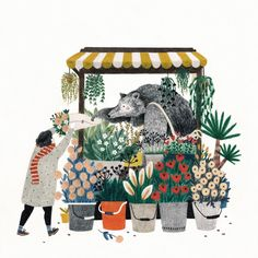 Giftcard illustration for @dasgoodshaus, a lovely store in Berlin Germany…
