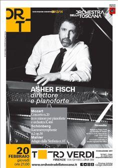 Concerto Fisch   Stagione concertistica 2013-14   Ort Graphics Kidstudio   Poster design Mattia Vegni   Foto Chris Gonz