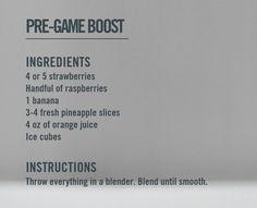 Nike training club reward- pregame boost smoothie recipe