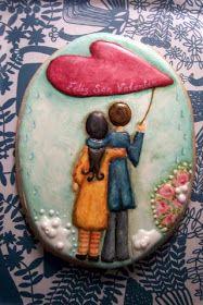 Maribel Ríos Arts Biscuits: 1ER. PREMIO EN EL CONCURSO DE GALLETAS PARA SAN VALENTIN, CONVOCADO POR JULIA M USHER
