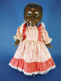 "14.5"" Unusual Black Ethnic Composition Doll C1950 - $ 95"