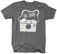 Oh snap! This fun hipster styled t-shirt features a hand drawn vintage camera with strap and reads 'Oh Snap' in a hand drawn font. This is a fun design for anyone. Oh snap, there it is. - Pre-Shrunk C