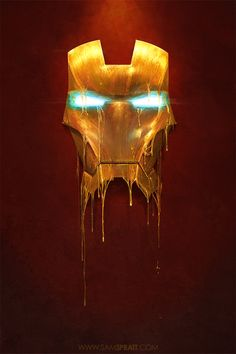 """Gilded"" - Iron Man Illustration"