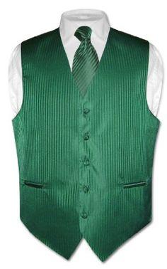 Men's Dress Vest & NeckTie Emerald Green Vertical Stripes sz 2XL Vesuvio Napoli,http://www.amazon.com/dp/B001OMKOGI/ref=cm_sw_r_pi_dp_sm88sb0RJR3WD4DZ