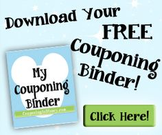 Print Your FREE Couponing Binder to help you pay for Disney World (or whatever you dream of)!