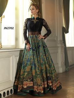 If you want to buy then please contact: 9638999757 & 9104999757 or Whatsapp no : 9638999757 : Tasmin Gopani & Radhi Gopani TOP COLOR: BLACK TOP FABRIC: BHAGALPURI DIGITAL PRINT BOTTOM COLOR: BLACK BOTTOM: SANTOON INNER: BLACK INNER FAB: SILK SIZE: XL TYPE: DIGITAL PRINT GOWN BUST SIZE:MAX UPTO TOP LENGTH: 57 INCH PRICE: 119$ ONLY