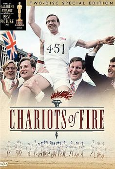 Chariots of Fire [PN1995.9.O59 C43 2010]  The story, told in flashback, of two young British sprinters competing for fame in the 1924 Olympics. Eric, a devout Scottish missionary runs because he knows it must please God. Harold, the son of a newly rich Jew runs to prove his place in Cambridge society. Eric, whose qualifying heat is scheduled for a Sunday, refuses to run despite pressure from the Olympic committee.