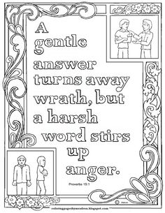 Coloring Pages for Kids by Mr. Adron: Proverbs Abc Bible Verses, Bible Verse Coloring Page, Verses For Kids, Scripture Study, Free Printable Coloring Pages, Coloring Pages For Kids, Coloring Books, Colouring Sheets, Free Coloring
