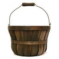 Woodchip Swing Handle Bushel Basket Brown - Large Basket