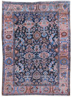 Antique Heriz & Serapi Rugs Gallery: Antique Heriz Rug, Hand-knotted in Persia; size: 7 feet 7 inch(es) x 10 feet 2 inch(es)