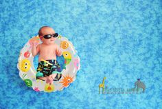 Newborn Baby Pictures...I need to do this since I can't really put her in the pool :)