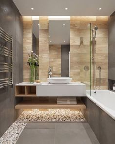 Luxury Bathroom Master Baths Walk In Shower is enormously important for your home. Whether you choose the Luxury Bathroom Master Baths Towel Storage or Luxury Master Bathroom Ideas, you will create th Bathroom Goals, Bathroom Spa, Bathroom Toilets, Bathroom Interior, Beige Bathroom, Bathroom Plants, Bathroom Remodeling, Remodeling Ideas, Warm Bathroom