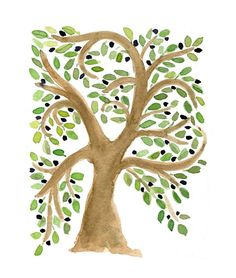 Olive Tree original art Print of original by TheJoyofColor on Etsy, $21.00