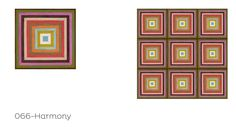 "Urban Geometric Collection- ""Harmony"" (Mirth Studio, Colorful Patterned Hardwood Floor Tiles)"
