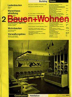 Wohnen Magazine bauen wohnen volume 02 issue 06 magazines retro and blue